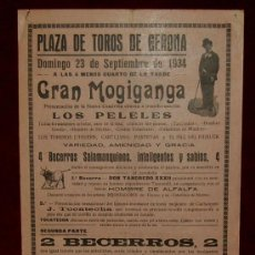 Carteles Toros: CARTEL TAURINO DEL AÑO 1935 PLAZA DE TOROS DE GERONA. Lote 22157411