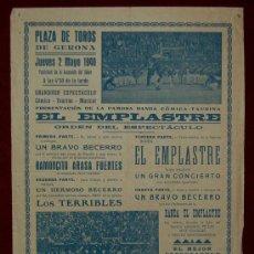 Carteles Toros: CARTEL TAURINO DEL AÑO 1940 PLAZA DE TOROS DE SANTA EUGENIA - GERONA. Lote 23887477