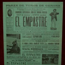 Carteles Toros: CARTEL TAURINO DEL AÑO 1932 PLAZA DE TOROS DE SANTA EUGENIA - GERONA. Lote 22084073