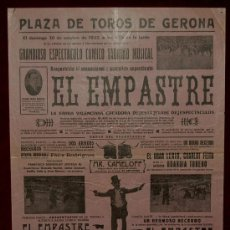 Carteles Toros: CARTEL TAURINO DEL AÑO 1932 PLAZA DE TOROS DE SANTA EUGENIA - GERONA. Lote 25881359
