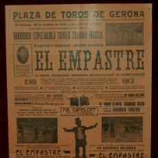 Carteles Toros: CARTEL TAURINO DEL AÑO 1932 PLAZA DE TOROS DE SANTA EUGENIA - GERONA. Lote 22059038