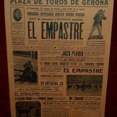 Carteles Toros: CARTEL TAURINO DEL AÑO 1932 PLAZA DE TOROS DE SANTA EUGENIA - GERONA. Lote 22340142