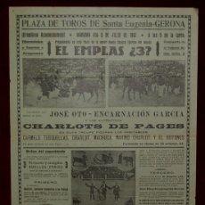 Carteles Toros: CARTEL TAURINO DEL AÑO 1931 PLAZA DE TOROS DE SANTA EUGENIA - GERONA. Lote 22157407