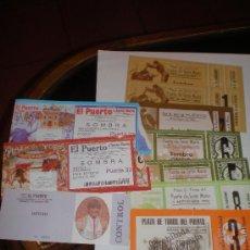 Carteles Toros: 11 ENTRADAS USADAS PARA CORRIDAS DE TOROS (PTO. DE SANTA MARÍA). Lote 26325422