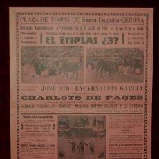 Carteles Toros: CARTEL TAURINO DEL AÑO 1931 PLAZA DE TOROS DE SANTA EUGENIA - GERONA. Lote 22154053