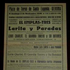 Carteles Toros: CARTEL TAURINO DEL AÑO 1930 PLAZA DE TOROS DE SANTA EUGENIA - GERONA. Lote 22084065