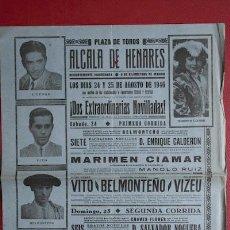 Carteles Toros: CARTEL DE TOROS DE ALCALÁ DE HENARES. . Lote 24889161