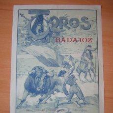 Carteles Toros: PLAZA DE TOROS DE BADAJOZ 1929 RUANO LLOPIIS. Lote 26324652