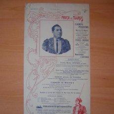 Carteles Toros: PLAZA DE TOROS DE CAMPO PEQUENO 1905 PORTUGAL. Lote 27476288
