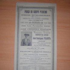 Carteles Toros: PLAZA DE TOROS DE CAMPO PEQUENO 1896 PORTUGAL. Lote 26374776