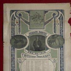 Carteles Toros: JOSELITO MARTÍN. AÑO DE 1918. CORRIDAS TOREADAS. . Lote 27394346