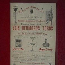 Carteles Toros: CARTEL DE TOROS DE GRANADA. 29, 31 Y 1º DE JUNIO DE 1902. LAGARTIJILLO, LAGARTIJO, MACHAQUITO, ETC.. Lote 16768325