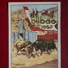 Carteles Toros: CARTEL DE TOROS DE BILBAO.. Lote 24351971