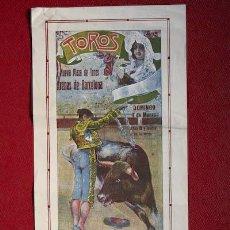 Carteles Toros: CARTEL DE TOROS DE BARCELONA. 7 DE MARZO DE 1915. GALLO, GALLITO Y POSADA. Lote 21240261