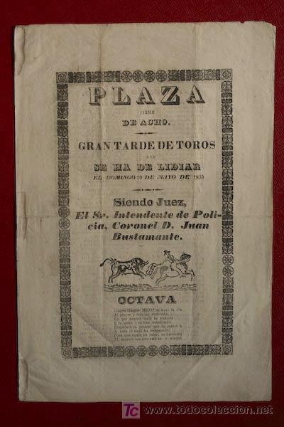CARTEL DE TOROS DE ACHO. LIMA. (PERÚ) (Coleccionismo - Carteles Gran Formato - Carteles Toros)