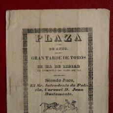 Carteles Toros: CARTEL DE TOROS DE ACHO. LIMA. (PERÚ). Lote 21586339