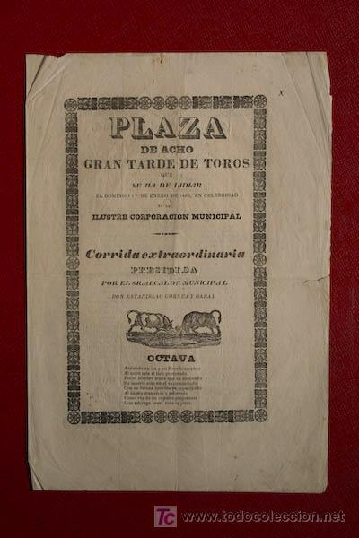 CARTEL DE TOROS DE ACHO. LIMA (PERÚ). (Coleccionismo - Carteles Gran Formato - Carteles Toros)