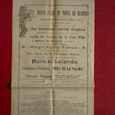Carteles Toros: CARTEL DE TOROS DE GRANADA. 6 DE OCTUBRE DE 1929. NIÑO DE LA PALMA, MARCIAL LALANDA, BIENVENIDA. Lote 12245565