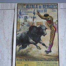 Carteles Toros: CARTEL DE TOROS DE ALCALÁ DE HENARES.. Lote 26813497