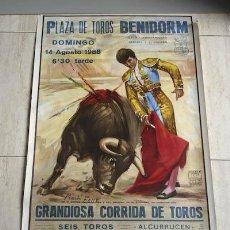 Carteles Toros: CARTEL DE TOROS DE BENIDORM.. Lote 12253505