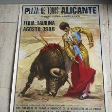 Carteles Toros: CARTEL DE TOROS DE ALICANTE.. Lote 38331095
