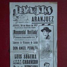 Carteles Toros: CARTEL DE TOROS DE ARANJUEZ.. Lote 25060135