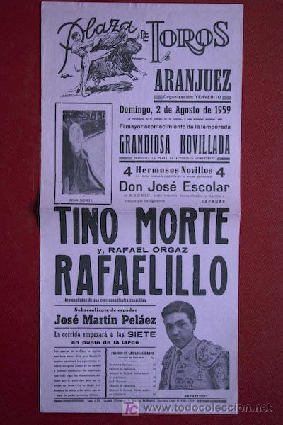CARTEL DE TOROS DE ARANJUEZ. (Coleccionismo - Carteles Gran Formato - Carteles Toros)