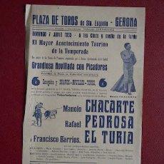 Carteles Toros: CARTEL DE TOROS DE GERONA. SANTA EUGENIA.. Lote 12259158