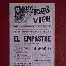Affissi Tauromachia: CARTEL DE TOROS DE VICH.. Lote 12291954