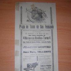 Carteles Toros: SAN FERNANDO 1914. Lote 27098859