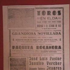 Cartazes Touros: CARTEL DE TOROS DE ELDA.. Lote 21763759