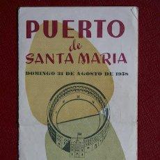 Carteles Toros: PROGRAMA DE TOROS DE MANO DE EL PUERTO. . Lote 12410780