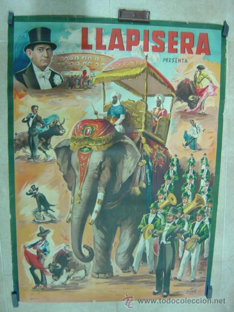 CARTEL TOROS - LLAPISERA - ILUSTRADOR: DONAT - AÑOS 1950-60 - SIN IMPRIMIR (Coleccionismo - Carteles Gran Formato - Carteles Toros)