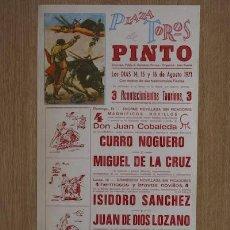 Carteles Toros: CARTEL DE TOROS DE PINTO.. Lote 12761483