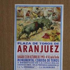 Carteles Toros: CARTEL DE TOROS DE ARANJUEZ.. Lote 23118418