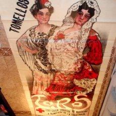 Carteles Toros: CARTEL TOROS TOMELLOSO , CIUDAD REAL , FERIAS Y FIESTAS, 1908 , ESPECTACULAR, ILUSTRADOR PERTEGAS. Lote 23506450