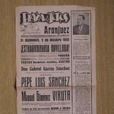 Carteles Toros: CARTEL DE TOROS DE ARANJUEZ.. Lote 25060137
