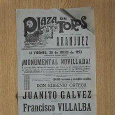 Carteles Toros: CARTEL DE TOROS DE ARANJUEZ. . Lote 23118421
