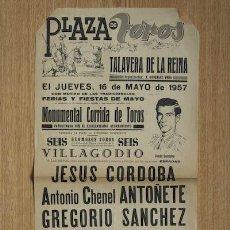 Carteles Toros: CARTEL DE TOROS DE TALAVERA DE LA REINA.. Lote 25081374