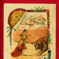 Carteles Toros: CARTEL TOROS CUENCA 1907, CROMOLITOGRAFICO. PERFECTO, UNA JOYA.. Lote 24314298