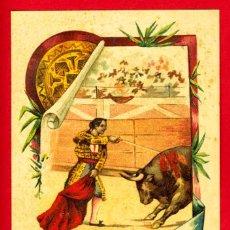 Carteles Toros: CARTEL TOROS SAN FERNANDO , CADIZ, 1907, CROMOLITOGRAFICO. PERFECTO, UNA JOYA.. Lote 24314299