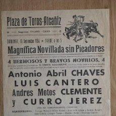 Affissi Tauromachia: CARTEL DE TOROS DE ALCAÑIZ. 13 DE SEPTIEMBRE DE 1964. ANTONIO ABRIL CHAVES, LUIS CANTERO, ETC.. Lote 12995062