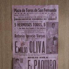 Carteles Toros: CARTEL DE TOROS DE SAN FERNANDO.. Lote 13015140