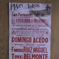 Carteles Toros: CARTEL DE TOROS DE SAN FERNANDO.. Lote 13015168