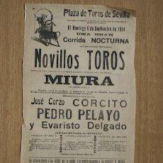Carteles Toros: CARTEL DE TOROS DE SEVILLA.. Lote 13051974
