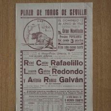 Carteles Toros: CARTEL DE TOROS DE SEVILLA.. Lote 13051995