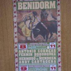 Carteles Toros: CARTEL DE TOROS DE BENIDORM.. Lote 13064248