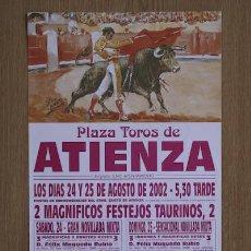 Carteles Toros: CARTEL DE TOROS DE ATIENZA.. Lote 13064450