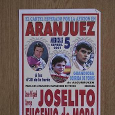 Carteles Toros: CARTEL DE TOROS DE ARANJUEZ.. Lote 24772116