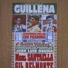 Carteles Toros: CARTEL DE TOROS DE GUILLENA.. Lote 13064721